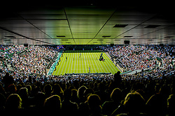 July 2, 2018 - London, United Kingdom - 180702 View of the centercourt during the match between Roger Federer and Dusan Lajovic during day 1 of Wimbledon on July 2, 2018 in London..Photo: Ludvig Thunman / BILDBYRN / kod LT / 35496 (Credit Image: © Ludvig Thunman/Bildbyran via ZUMA Press)