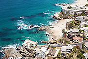 Table Rock Beach in Laguna Beach California Aerial Stock Photo