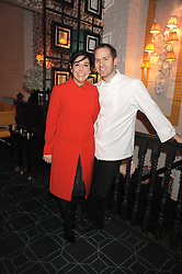 SHARLEEN SPITERI and BRYN WILLIAMS at a dinner to celebrate 30 years of Odette's restaurant, held at Odette's, 130 Regents Park Road, London NW1 on 24th November 2008.