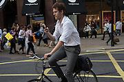 Cyclist, London, 21 July 2016