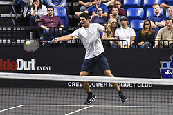 October 4, 2018 - St. Louis, Missouri, U.S - MARK PHILIPPOUSSIS with the forehand shot during the Invest Series True Champions Classic on Thursday, October 4, 2018, held at The Chaifetz Arena in St. Louis, MO (Photo credit Richard Ulreich / ZUMA Press) (Credit Image: © Richard Ulreich/ZUMA Wire)