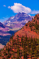 The Maroon Bells from the Snowmass side (Aspen), Colorado USA.