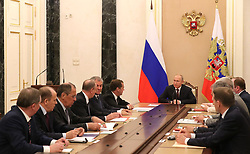 May 24, 2019 - Moscow, Russia - May 24, 2019. - Russia, Moscow. - Russian President Vladimir Putin (center) chairs a Security Council meeting at the Moscow Kremlin. (Credit Image: © Russian Look via ZUMA Wire)