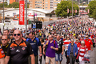 Wembley Way during the Ladbrokes Challenge Cup Final 2017 match between Hull RFC and Wigan Warriors at Wembley Stadium, London, England on 26 August 2017. Photo by Simon Davies.
