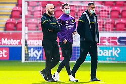 Norwich City players inspect the pitch the Aesseal New York Stadium, home to Rotherham United - Mandatory by-line: Ryan Crockett/JMP - 17/10/2020 - FOOTBALL - Aesseal New York Stadium - Rotherham, England - Rotherham United v Norwich City - Sky Bet Championship