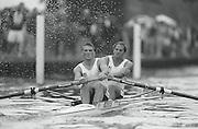 Henley Royal Regatta,  Silver Goblets and Nickalls' Trophy, Stroke Matt PINSENT and Steve REDGRAVE.  [Mantatory credit Peter Spurrier/Intersport Images] Rowing Course: Henley Reach . HRR. 1997 Henley Royal Regatta, Henley, Great Britain