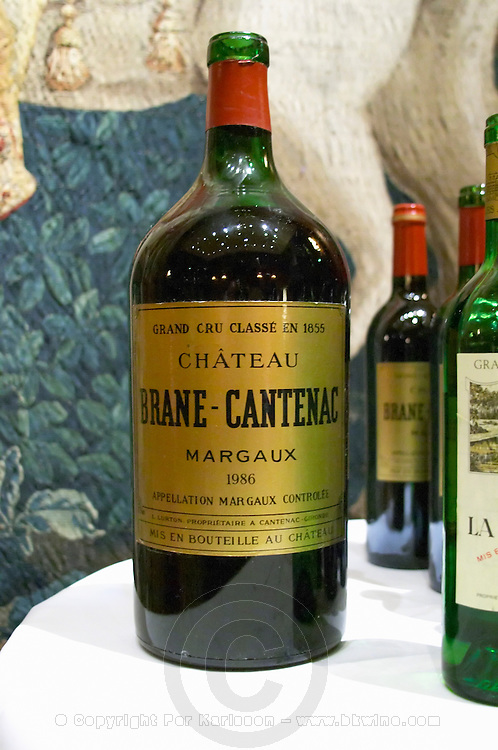 Chateau Brane Cantenac, margaux, Medoc, 1986 in double magnum. Bordeaux, France