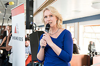 04 JUN 2019, BERLIN/GERMANY:<br /> Manuela Schwesig, SPD, Ministerpraesidentin Mecklenburg-Vorpommern, Spargelfahrt des Seeheimer Kreises der SPD, Anleger Wannsee<br /> IMAGE: 20190604-01-158