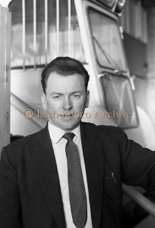 25/01/1963<br /> 01/25/1963<br /> 25 January 1963<br /> Cassidys (Engineering) Ltd., Naas Road, Dublin. Headshot of member of staff at the works.