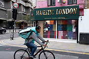 Majestic London fabric wholesale and retail shop on Wentworth Street aka Petticoat Lane on on 25th June 2020 in London, United Kingdom. Small businesses like this are struggling with far fewer customers due to the Coronavirus pandemic.