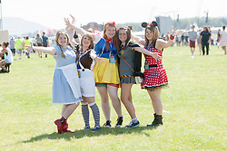 Zoe Shears, Rachel Edwards, Vicki Jones, Lisa Morris and Rhinnon Casley. In the main arena, Friday, T in the Park 2014.<br /> © Michael Schofield.