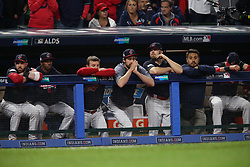 October 11, 2017 - Cleveland, OH, USA - From the dugout, the Cleveland Indians watch the final out in a 5-2 loss to the New York Yankees in Game 5 of the American League Division Series, Wenesday, Oct. 11, 2017, at Progressive Field in Cleveland. (Credit Image: © Phil Masturzo/TNS via ZUMA Wire)