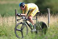 CYCLING - TOUR DE FRANCE 2012 - STAGE 9 - Individual Time Trial - Arc-et-Senans > Besançon (38 km) - 09/07/2012 - PHOTO MANUEL BLONDEAU / DPPI - SKY PROCYCLING TEAMRIDER BRADLEY WIGGINS OF GREAT BRITAIN