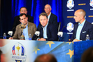 David Love III (USA)  during the PGA of America Ryder Cup captain announcement press conference from PGA National, Palm Beach Gardens, Florida.<br /> Picture: Fran Caffrey / Golffile