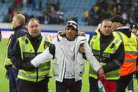 Malmö  2012-10-11  Fotboll  Landskamp  Brazil    - Iraq   :  fotboll , football , soccer , Landskamp , Herrar , Men , Brazil , Iraq , .(Foto: Christer Thorell, Pic-Agency.com) Nyckelord : hulliganer.
