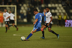November 3, 2018 - Vercelli, Italy - Italian defender Davide Bove from Novara Calcio team playing during Saturday evening's match against Pro Vercelli team valid for the 10th day of the Italian Lega Pro championship  (Credit Image: © Andrea Diodato/NurPhoto via ZUMA Press)