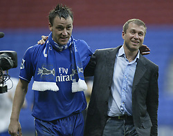 File photo dated 30-04-2005 of Chelsea's captain John Terry (left) and Roman Abramovich.