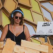 London, England, UK. 16th July 2017. Emily Rawson is a Dj at the Citadel Festival at Victoria Park, London, UK.