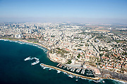 Aerial Photography of Old Jaffa Port, Israel