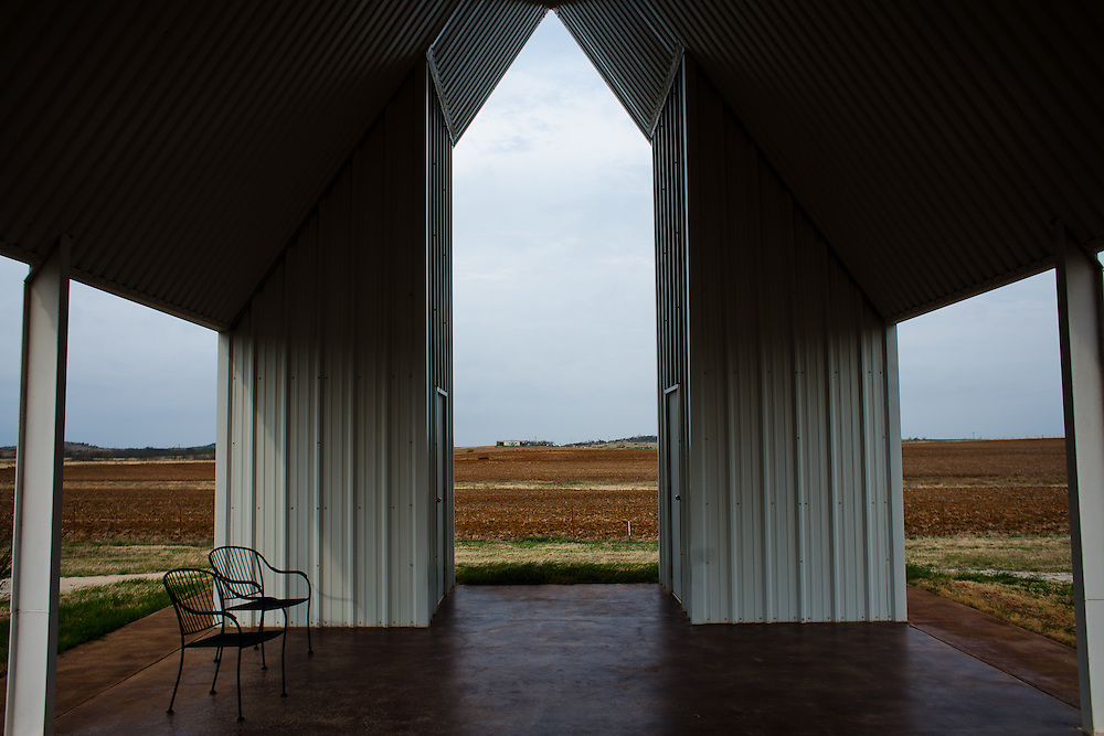 The Loving Cemetery backs into farmland in north Texas.