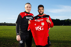 Interim Bristol City Manager John Pemberton welcomes new signing Scott Golbourne to the Bristol City training ground after he joins the club from Wolverhampton Wanderers - Mandatory byline: Rogan Thomson/JMP - 28/01/2016 - FOOTBALL - Failand Training Ground - Bristol, England - Bristol City New Signings.