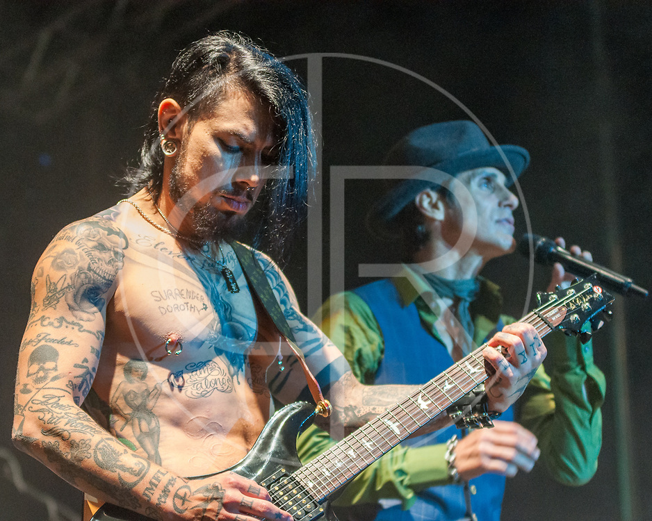 BALTIMORE United States - September 27, 2014: Dave Navarro and Perry Farrell of Jane's Addiction, perform at The Shindig, in Baltimore's historic Carroll Park