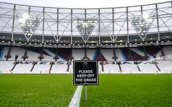 A general view of the pitch prior to the Premier League match at The London Stadium, London.