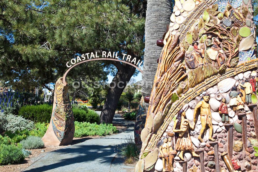 Coastal Rail Trail Sculpted Archway in Solana Beach California