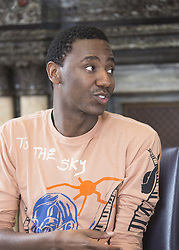 June 18, 2017 - London, United Kingdom - JERROD CARMICHAEL promotes 'Transformers: The Last Knight.' Jerrod Carmichael (born June 22, 1987) is an American stand-up comedian, actor, and writer. Carmichael is best known for creating and playing the lead role in the semi-biographical NBC sitcom The Carmichael Show. Ferdinand, Transformers: The Last Knight, The Disaster Artist. (Credit Image: © Armando Gallo via ZUMA Studio)