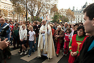 Buenos Aires Archbishop, Jorge Mario Bergoglio walks in a procession in Buenos Aires, Argentina on May 28, 2005. In 2013 he was elected as the 266th pontiff for the Roman Catholic Church, taking the name Pope Francis. (photo by Joe Gosen)