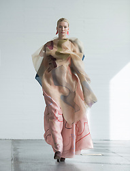 Pictured: design by Nour Daher.<br /> <br /> <br /> Students studying fashion design at Glasgow School of Art previewed their work before their annual degree show.<br /> <br /> © Dave Johnston / EEm