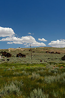 Bodie Ghost Town Gold Mine Panorama. Seven of seven portrait images taken with a Nikon D3s camera and 50 mm f/1.4G lens (ISO 800, 50 mm, f/16, 1/200 sec). Raw images processed with DxO and the panorama created using AutoPano Giga Pro.