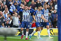 Football - 2019 / 2020 Premier League - Brighton & Hove Albion vs. Tottenham Hotspur<br /> <br /> Aaron Connolly of Brighton celebrates scoring during the Premier League match at The Amex Stadium Brighton  <br /> <br /> COLORSPORT/SHAUN BOGGUST