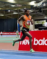 New Balance Indoor Grand Prix track meet: Men's 3000 meter, Hagos Gebrhiwet wins