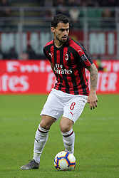 March 2, 2019 - Milan, Milan, Italy - Suso #8 of AC Milan in action during the serie A match between AC Milan and US Sassuolo at Stadio Giuseppe Meazza on March 02, 2019 in Milan, Italy. (Credit Image: © Giuseppe Cottini/NurPhoto via ZUMA Press)
