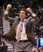 Los Angeles Clippers head coach Vinny Del Negro reacts to a foul call during the second half an NBA basketball game against the Utah Jazz, Tuesday, Jan. 17, 2012, in Salt Lake City. The Jazz defeated the Clippers 108-79. (AP Photo/Colin E Braley)