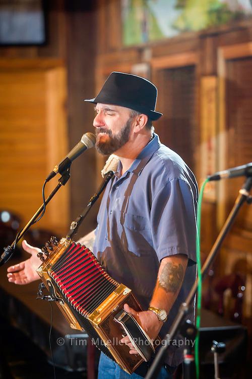 Lee Benoit and his band perform Cajun music Saturday night's at Boutin's in Baton Rouge, La.