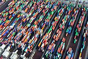 Nederland, Zuid-Holland, Rotterdam, 28-09-2014; Eerste Maasvlakte met  Amazonehaven en zicht op ECT Delta Terminal (Europe Container Terminals).<br /> Port of Rotterdam, First Maasvlakte and Europe Container Terminals.<br /> luchtfoto (toeslag op standard tarieven);<br /> aerial photo (additional fee required);<br /> copyright foto/photo Siebe Swart