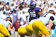 FORT WORTH, TX - SEPTEMBER 13:  Chucky Hunter #96 of the TCU Horned Frogs looks on against the Minnesota Golden Gophers on September 13, 2014 at Amon G. Carter Stadium in Fort Worth, Texas.  (Photo by Cooper Neill/Getty Images) *** Local Caption *** Chucky Hunter
