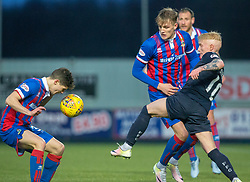 Inverness Caledonian Thistle's Jack Brown and Falkirk's Craig Sibbald. Falkirk 3 v 1 Inverness Caledonian Thistle, Scottish Championship game played 27/1/2018 at The Falkirk Stadium.