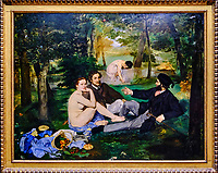 France, Paris (75), zone classée Patrimoine Mondial de l'UNESCO, Musée d'Orsay, Le Déjeuner sur l'herbe, Edouard Manet // France, Paris, Orsay museum, Le Déjeuner sur l'herbe, Edouard Manet