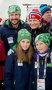 Crown Prince Haakon and Crown Princess Mette-Marit and children skiing, Lillehammer 13-02-2016