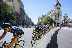 Emilia Fahlin dives into the bend at Madrid Challenge by la Vuelta 2017 - a 87 km road race on September 10, 2017, in Madrid, Spain. (Photo by Sean Robinson/Velofocus.com)