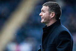 Queen of the South's manager Jim McIntyre.<br /> Falkirk 1 v 0 Queen of the South, Scottish Championship game today at the Falkirk Stadium.<br /> © Michael Schofield.