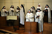 Sisters sing prayers every afternoon at the Tyburn Convent on Bayswater Rd, London.