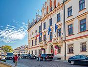 Rzeszów (woj. podkarpackie) 2018-10-11. Ratusz w centrum miasta.