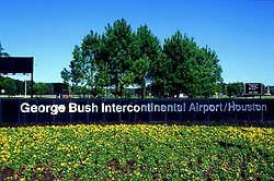 Entrance sign to George Bush Intercontinental Airport