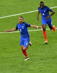 Dimitri Payet of France celebrates his goal  - Mandatory by-line: Joe Meredith/JMP - 10/06/2016 - FOOTBALL - Stade de France - Paris, France - France v Romania - UEFA European Championship Group A