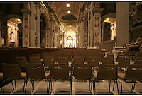 Empty Chairs in St Peters Basilica Cathedral in The Vatican Rome Italy
