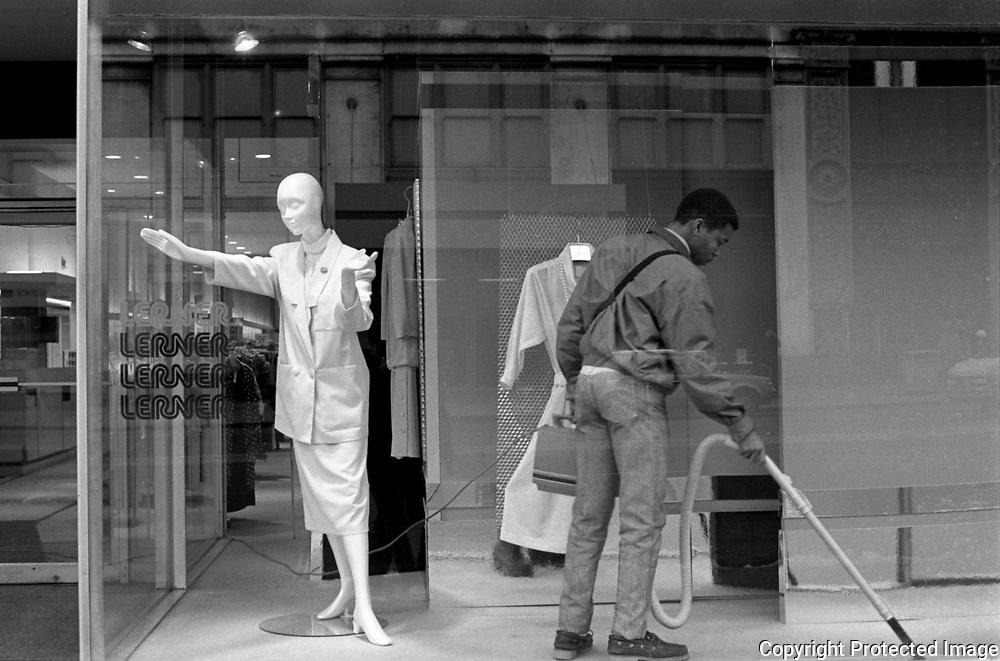 11th and F Street NW Washington DC, 1986